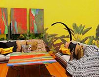 colourful bohemian apartment