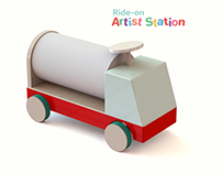Ride-on Artist Station