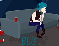 Blue - Static Cadets Album Cover