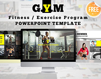 Free Download Fitness Center Powerpoint Template