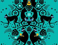 Langur monkey illustration