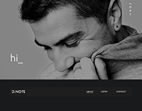 D.NOTE landing page