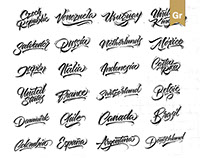 Lettering Set Countries