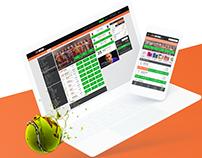 Web & UX UI design - 36Win betting platform