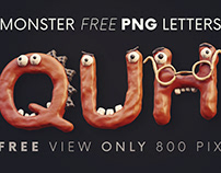 Plasticine Monsters - Free 3D Lettering