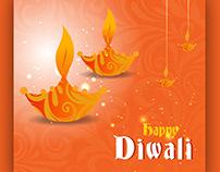 Diwali lamp vector download