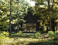 CGI: Forest cabin