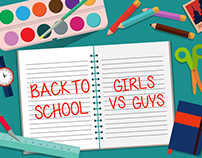 Back to school - Girl vs guy / Kim Vy
