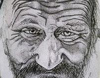 Ilustração em pontilhismo
