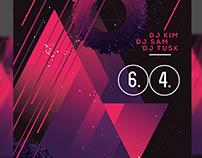 Disco Music PSD Flyer