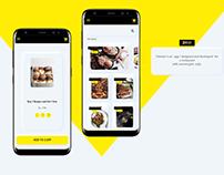 Neomorphic Food App