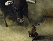 The Nubian Triplets fight the Giant Bull