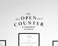 The Open Counter: A Gourmet Typerie
