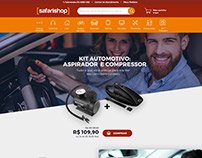 Safarishop Landing Page