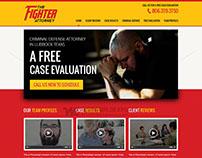 The Fighter Attorney - Custom Web Design