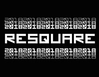 RESQUARE - FREE MONOSPACED GEOMETRIC TYPEFACE