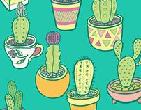 Cactus Garden Pattern