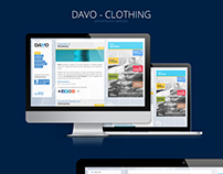 Davo Clothing - Presentation Website