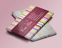 Diseño de tarjetas de visita Hostal Conde Güell