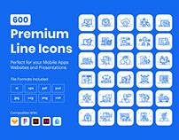 600 Premium Outline Icons