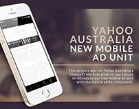 Yahoo Celtra Selfie Ad
