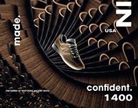 NewBalance美产Running s 1400跑鞋广告海报拍摄制作 Desgined by武减武文化创意