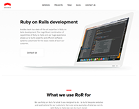 Landing Page about RoR
