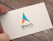 Atech Solutions Logo Design