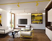 Black/Yellow wood interior