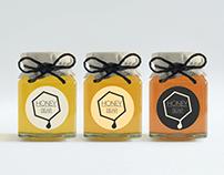 Honey production company logo