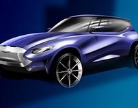 Aston Martin SUV Concept Sketch