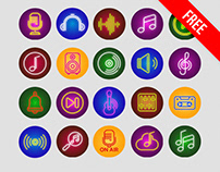 Free Music Icon Set