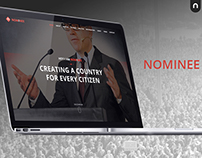 NOMINEE - Election Candidate Web Concept