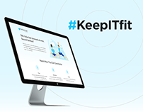 #KeepITfit - Campaign Landing Page and Illustrations
