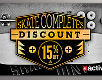 Skate Discount Card For Active Ride Shop