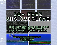 20+ FREE Genuine VHS Overlays