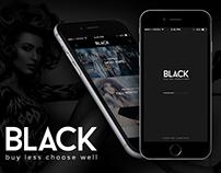 Black Fashion Mobile App UI/UX