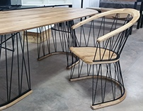 Geometry table and chair set