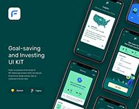 Fujiko UI Kit - Goal Saving Finance UI UX