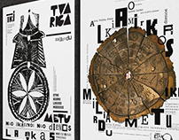 FONT-POSTERS for Ethnocosmological Museum