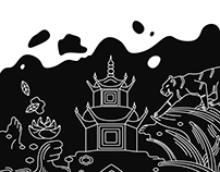 Illustrations for ''Manami'' asian food restaurant menu