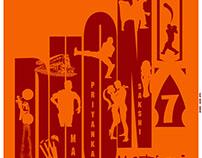 MS Dhoni Minimal Poster