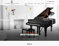 Web Design Concept for Steinway Piano Gallery