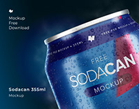 Soda Can 355ml Mockup [Free PSD Mockup]