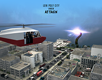 Low Poly City under Attack