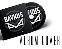 """BAYKUŞ"" Rock band Logo& Album cover design"