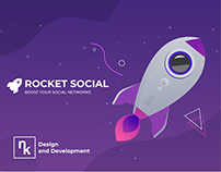 DESIGN WEBSITE - ROCKET SOCIAL | Дизайн сайта