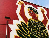 Bright Walls Mural Festival - Jackson Michigan, USA