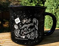Hand Lettered Mug • Creative Mornings Seattle