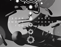 Rare Forms 001 Event Poster